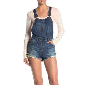 Free People Sunkissed Shortalls Overalls Size 10